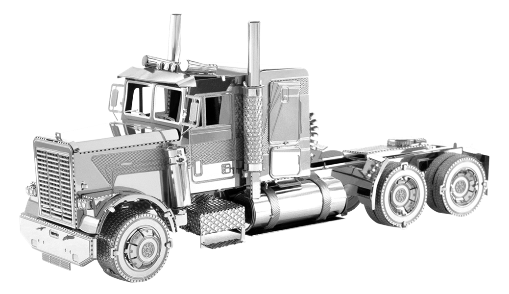 metal earth freightliner - flc long nose truck