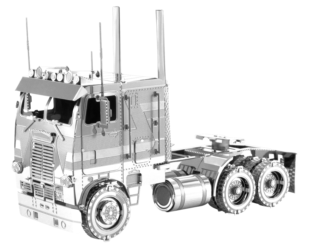 metal earth freightliner coe truck