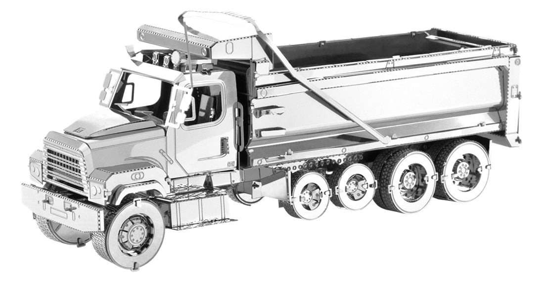 metal earth freightliner 114SD Dump Truck