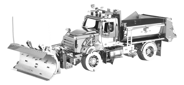 metal earth freightliner 114SD Snow Plow