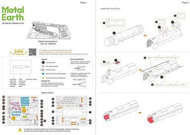 Instruction of STEAM LOCOMOTIVE instructions 1