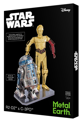metal earth girt box sets - c-3PO & R2- D2