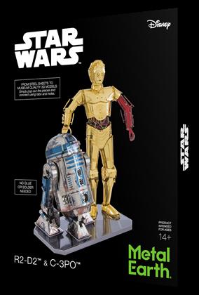 metal earth girt box sets - c-3PO & R2- D2