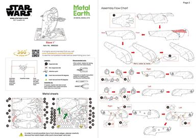 metal earth star wars - slave 1 instructions