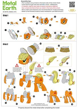 instruction of  my litle pony - Applejack