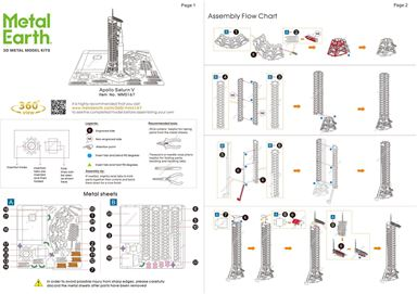 instruction of Apollo Saturn V with Gantry