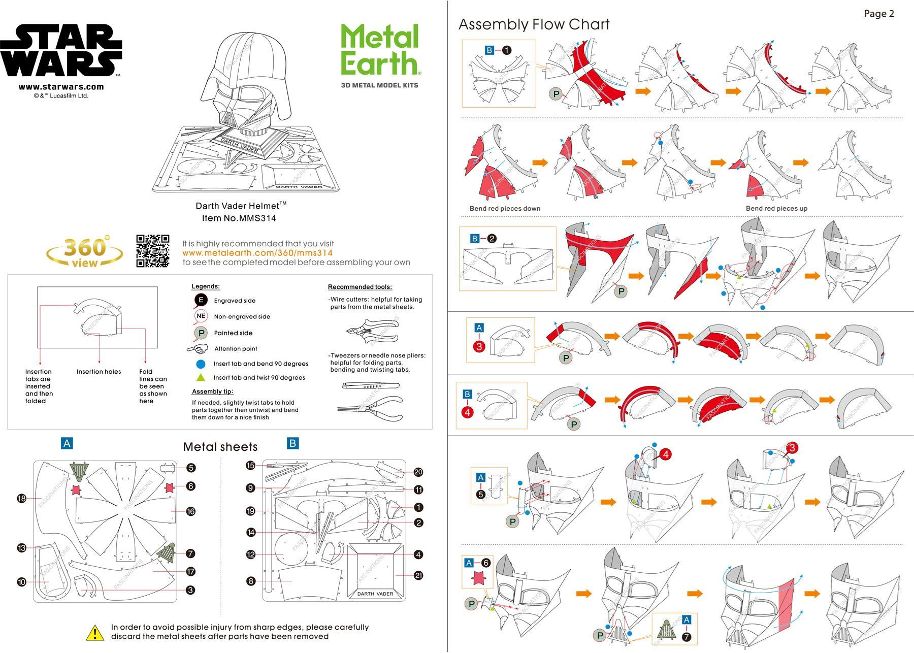 6fdf0db88 Metal Earth Star Wars - Darth Vader Helmet™