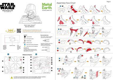 instruction of Darth Vader Helmet
