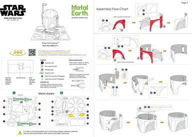 instruction of Boba Fett Helmet