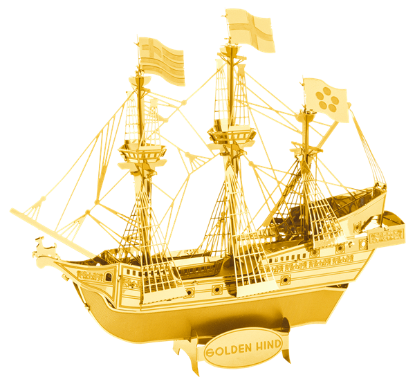 Metal Earth ships - Golden Hind