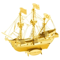 Metal Earth ships - GOLD Golden Hind