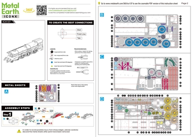 Instruction sheets of ICONX Hogwarts Express