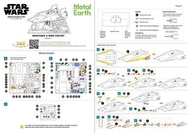Instruction sheets of Resistance A-Wing Fighter