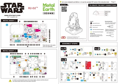 Instruction sheets of ICONX R2-D2