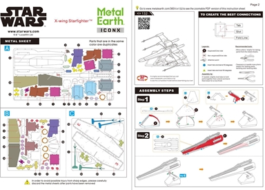 Instruction sheets of ICONX X-Wing Starfighter