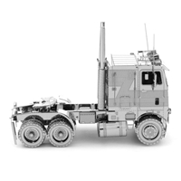 metal earth freightliner coe truck 1