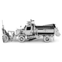 metal earth freightliner 114SD Snow Plow 1