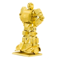 metal earth tranformers - gold bumblebee
