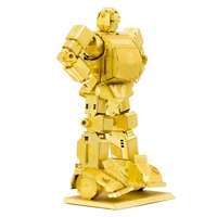 metal earth tranformers - gold bumblebee