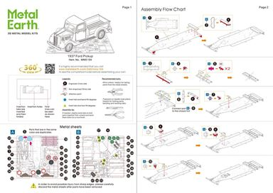 Instruction sheets - 1937 Ford Pickup