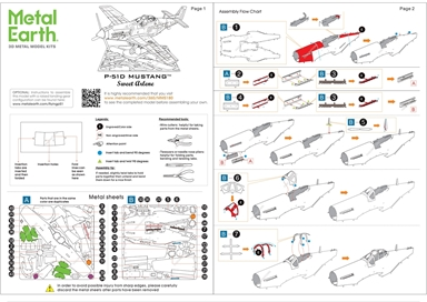 Instruction sheets of P-51D Mustang Sweet Arlene