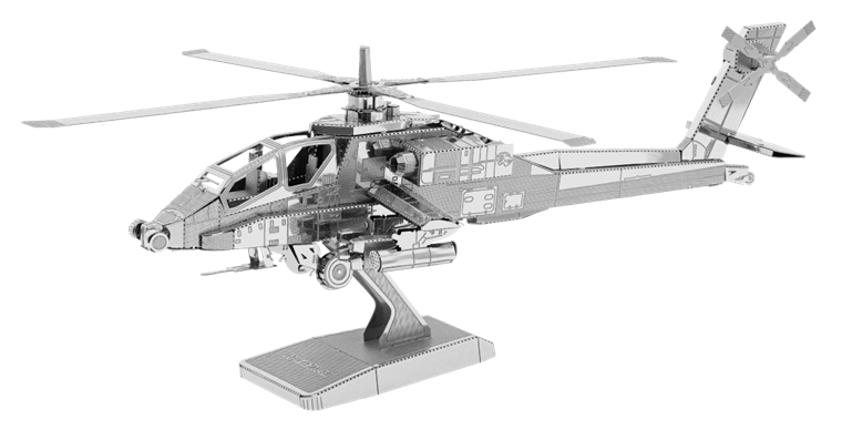 metal earth boeing - ah - 64 apache