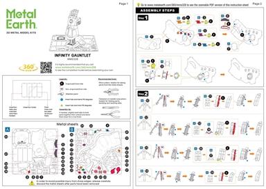 Infinity Gauntlet - Instruction