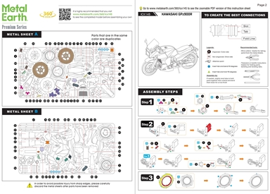 Kawasaki GPz900R - Instruction Sheets