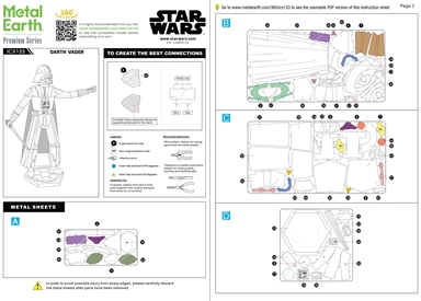 Darth Vader - instruction sheets