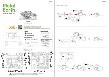 metal earth tanks t-34 tank instruction