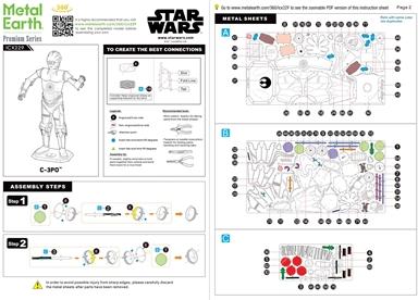 Instruction sheets - C-3PO
