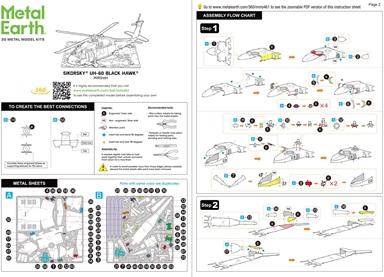 Instruction sheets - Black Hawk