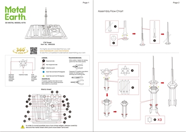 CN tower instruction