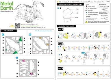 instruction sheets Buckbeak