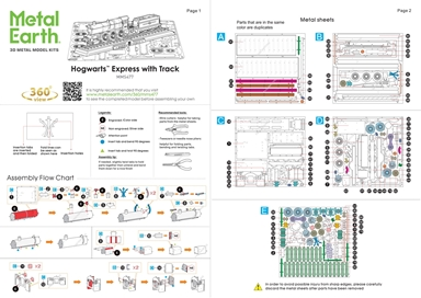 Instruction sheets Hogwarts Express with Track
