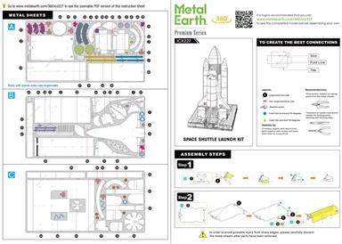 Instruction sheets -  Space Shuttle Launch Kit